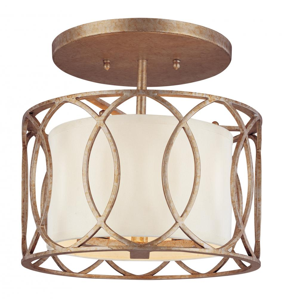 three light deep bronze drum shade semi flush mount eytt brechers. Black Bedroom Furniture Sets. Home Design Ideas