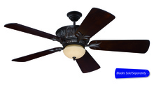 "Craftmade PV52AG - Pavilion 52"" Ceiling Fan in Aged Bronze Textured (Blades Sold Separately)"