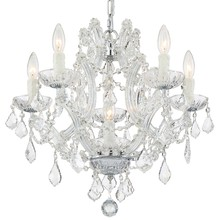 Crystorama 4405-CH-CL-MWP - Crystorama Maria Theresa 6 Light Clear Crystal Chrome Mini Chandelier