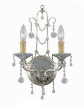 Crystorama 4612-SL - Crystorama 2 Light Silver Leaf Sconce