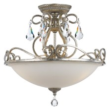 Crystorama 5010-OS-CL-MWP - Crystorama Ashton 3 Light Hand Cut Crystal Silver Ceiling Mount