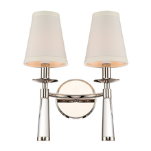 Crystorama 8862-PN - Crystorama Baxter 2 Light Polished Nickel Bronze Sconce