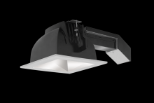 "RAB Lighting RDLED6S20-80YN-M-S - REMODELER 6"" SQUARE 20W 3500K DIM TRIAC 80 DEGREES MATTE CONE SILVER RING"
