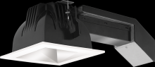 "RAB Lighting RDLED4S20E-50Y-M-W - REMODELER 4"" SQUARE 20W 3000K DIM ELV 50 DEGREES MATTE CONE WHITE RING"