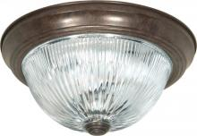 Satco Products Inc. 76-607 - Two Light Bronze Bowl Flush Mount