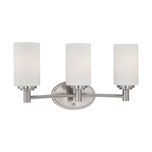 Thomas 190024217 - Three-light bath fixture in Brushed Nickel finish with etched glass.