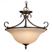 Golden 8606-SF RBZ - Three Light Bronze Up Pendant
