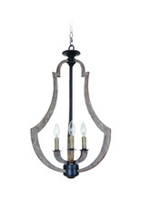 Jeremiah 35133-WP - Winton 3 Light Foyer in Weathered Pine/Bronze