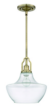 Jeremiah P640LB1 - 1 Light Mini Pendant with Rods in Legacy Brass