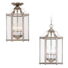 Sea Gull 5231-962 - Three Light Semi-Flush Convertible Pendant