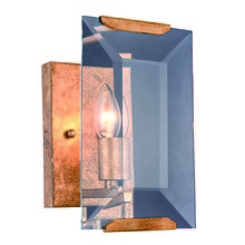 "Elegant 1212W6GI - Monaco Collection Wall Sconce W:6"" H:10"" E:7"" Lt:1 Golden Iron Finish Glass Crystal (Cle"