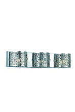 Elegant 2051W24C/RC - 2051 Soho Collection Wall Sconce  W24in H5in Ext.4 Lt:3 Chrome Finish  (Royal Cut Crystals)