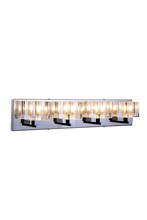Elegant 2070W4C/RC - 2070 Reflection Collection Wall Sconce D:25in H:5in E:5in Lt:4 Chrome Finish (Royal Cut Crystals)