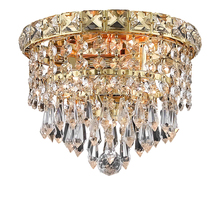 Elegant 2526F8G/RC - 2526 Tranquil Collection Flush Mount D:8in H:7in Lt:2 Gold Finish (Royal Cut Crystals)