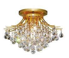 Elegant V8000F19G/RC - 8000 Toureg Collection Flush Mount D:19in H:14in Lt:6 Gold Finish (Royal Cut Crystals)