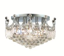 Elegant V8949F20C/RC - 8949 Corona Collection Flush Mount D:20in H:16in Lt:9 Chrome Finish (Royal Cut Crystals)