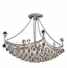 Elegant V9800D24C/RC - 9800 Corona Colloection Chandelier L:24 in W:14in H:18in Lt:6 Chrome Finish (Royal Cut Crystals)