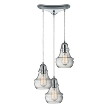 ELK Lighting 60057-3 - Menlow Park 3 Light Pendant In Polished Chrome