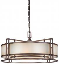 Minka Metropolitan N6965-1-267B - 4 Light Drum Pendant
